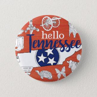 Bóton Redondo 5.08cm Olá! Tennessee