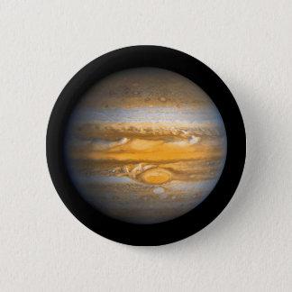 Bóton Redondo 5.08cm Olho do planeta de Jupiter do espaço