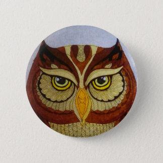 Bóton Redondo 5.08cm Olhos da coruja