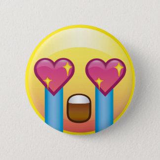 Bóton Redondo 5.08cm Olhos Excited Emoji de grito do coração da faísca