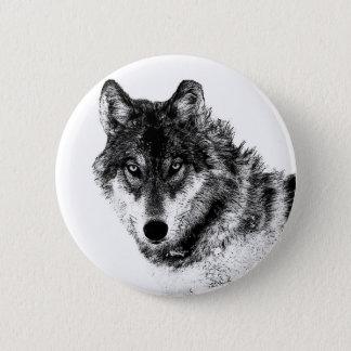Bóton Redondo 5.08cm Olhos inspirados brancos pretos do lobo