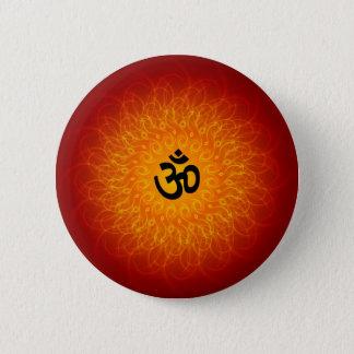 Bóton Redondo 5.08cm OM espiritual na mandala