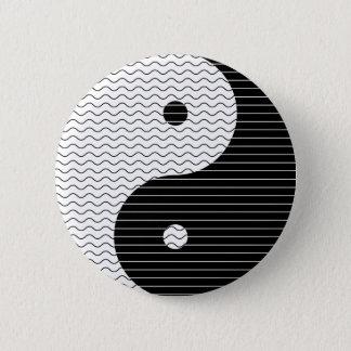 Bóton Redondo 5.08cm Ondas de Yin Yang