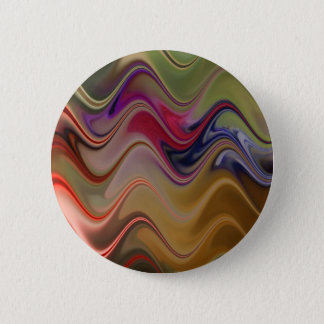 Bóton Redondo 5.08cm Ondas multicoloridos
