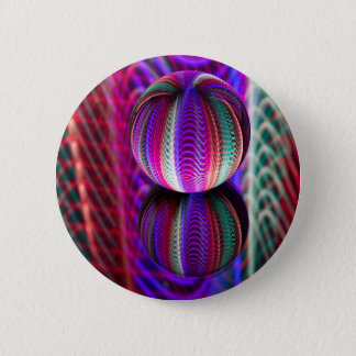Bóton Redondo 5.08cm Ondas na bola de cristal