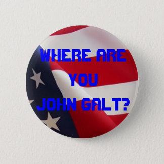 Bóton Redondo 5.08cm Onde é você John Galt?
