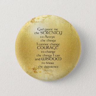 Bóton Redondo 5.08cm Oração Kelt da serenidade no amarelo