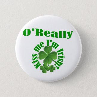 Bóton Redondo 5.08cm O'Really, sobrenome irlandês