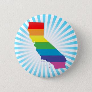 Bóton Redondo 5.08cm orgulho de Califórnia