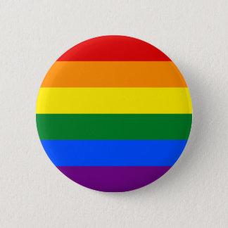 Bóton Redondo 5.08cm Orgulho lésbica alegre do botão da bandeira do
