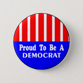 Bóton Redondo 5.08cm Orgulhoso ser um botão de Democrata