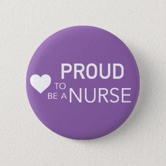 Bóton Redondo 5.08cm Orgulhoso ser uma enfermeira