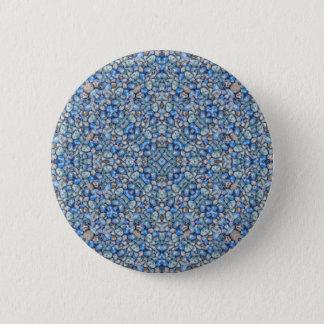 Bóton Redondo 5.08cm Ornamentado luxuoso geométrico