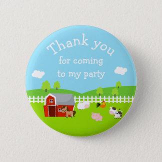 Bóton Redondo 5.08cm Os animais de fazenda bonitos 'agradecem-lhe para