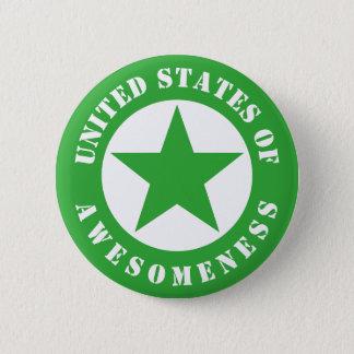 Bóton Redondo 5.08cm Os Estados Unidos de Awesomeness