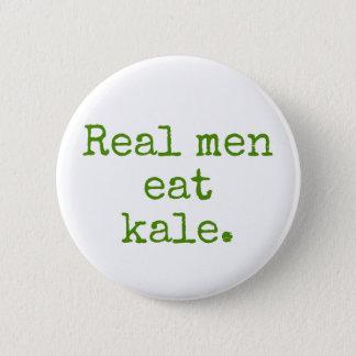 Bóton Redondo 5.08cm Os homens reais comem o botão do Vegan da couve