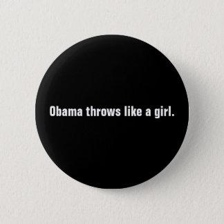 Bóton Redondo 5.08cm Os lances de Obama gostam de uma menina