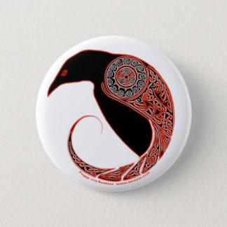 Bóton Redondo 5.08cm Os pinos & os botões celtas do knotwork do corvo