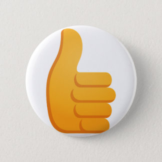 Bóton Redondo 5.08cm Os polegares levantam Emoji