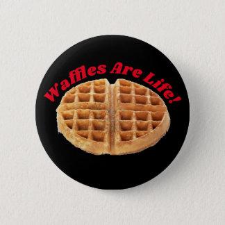 Bóton Redondo 5.08cm Os Waffles são novidade congelada estranha do