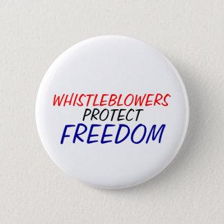 Bóton Redondo 5.08cm Os Whistleblowers protegem a liberdade