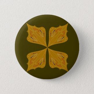 Bóton Redondo 5.08cm Ouro das mandalas na azeitona