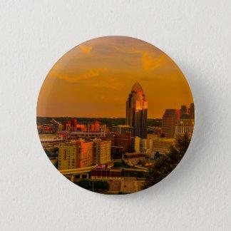 Bóton Redondo 5.08cm Ouro de Cincinnati