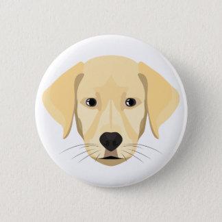 Bóton Redondo 5.08cm Ouro Retriver do filhote de cachorro da ilustração