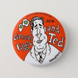 Bóton Redondo 5.08cm Ovos verdes e Ted Cruz para o presidente