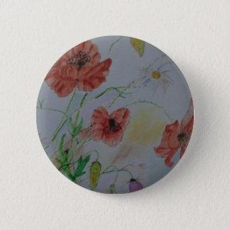 """Bóton Redondo 5.08cm Padrão 2 1/4"""" botão redondo w/flowers"""
