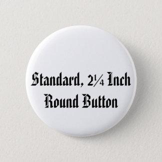 Bóton Redondo 5.08cm Padrão, botão redondo da polegada de 2 ¼
