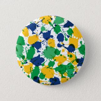 Bóton Redondo 5.08cm Padrão colorido, botão redondo da polegada de 2 ¼