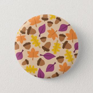 Bóton Redondo 5.08cm Padrão da bolota, botão redondo da polegada de 2 ¼