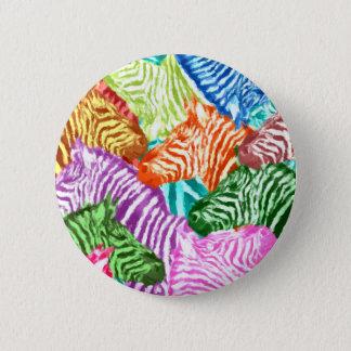 Bóton Redondo 5.08cm Padrão da zebra, botão redondo da polegada de 2 ¼