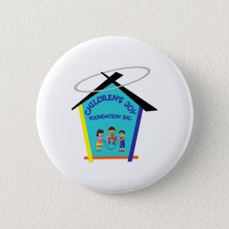 Bóton Redondo 5.08cm Padrão de CJFI, botão redondo da polegada de 2 ¼