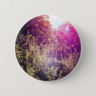 Bóton Redondo 5.08cm Padrão de Forrest do arco-íris, botão redondo da
