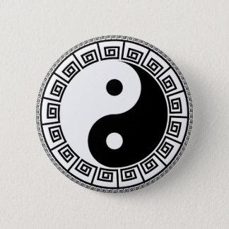 Bóton Redondo 5.08cm Padrão de Yin Yang, botão redondo da polegada de 2