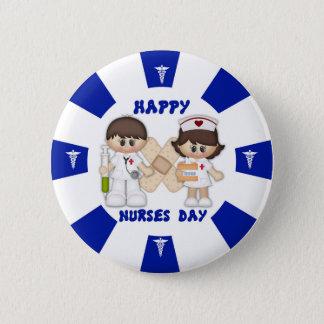 Bóton Redondo 5.08cm Padrão do dia das enfermeiras, botão redondo da