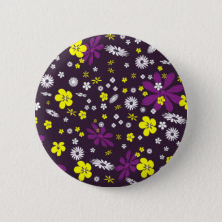 Bóton Redondo 5.08cm Padrão floral, botão redondo da polegada de 2 ¼