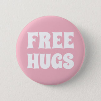 Bóton Redondo 5.08cm Padrão livre dos abraços, botão redondo da