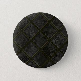 Bóton Redondo 5.08cm Padrão preto, botão redondo da polegada de 2 ¼