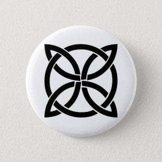 Bóton Redondo 5.08cm pagan antigo do símbolo de ireland do nó celta
