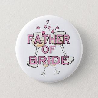 Bóton Redondo 5.08cm Pai da identificação da noiva