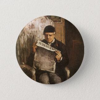 Bóton Redondo 5.08cm Pai de Louis Auguste Cezanne da leitura do artista