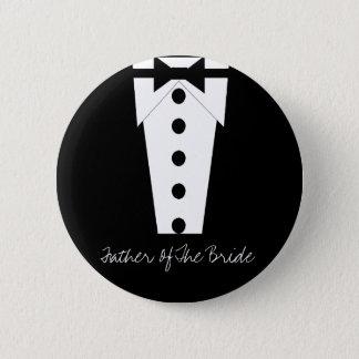 Bóton Redondo 5.08cm Pai do botão da noiva