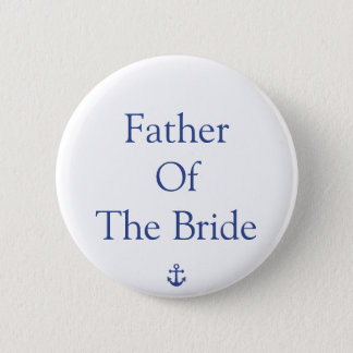 Bóton Redondo 5.08cm Pai dos botões de casamento náuticos da noiva