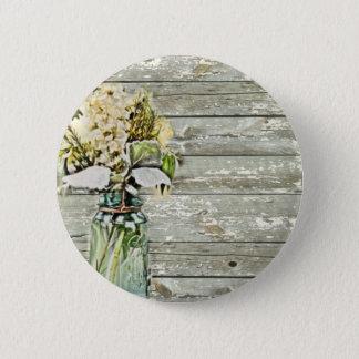 Bóton Redondo 5.08cm País francês de madeira do celeiro do wildflower