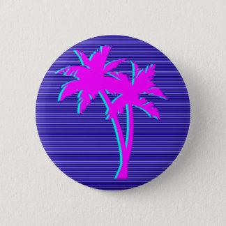 Bóton Redondo 5.08cm Palmeira de néon