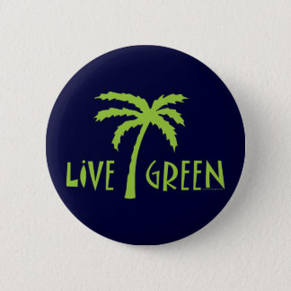 Bóton Redondo 5.08cm Palmeira verde viva ambiental