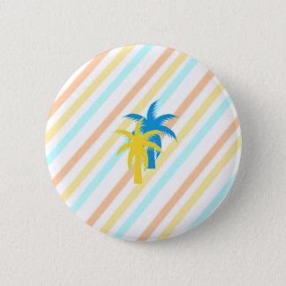 Bóton Redondo 5.08cm palmeiras tropicais